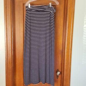 J Crew striped Maxi Skirt